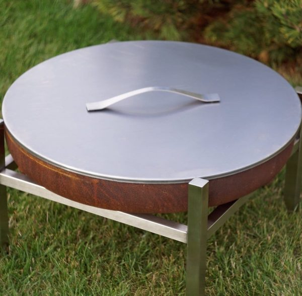Stainless lid for 63cm fire pit