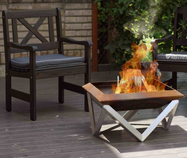 Andes Rusting Steel Fire Pit