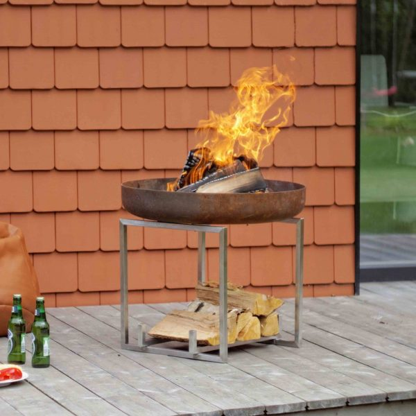 CUBE FIRE PIT WITH BBQ