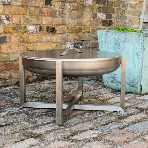 Stainless steel fire pit Quadra