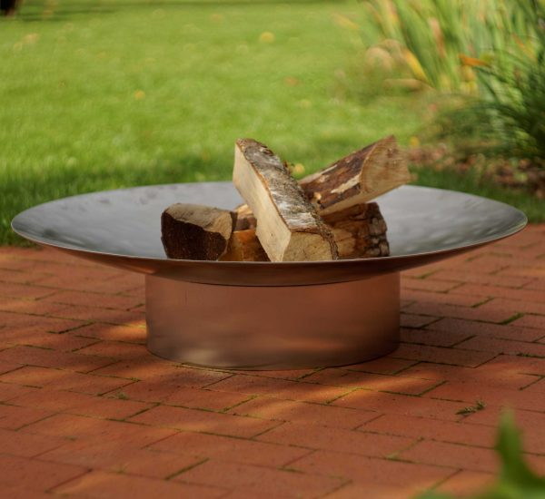 Hestia in Stainless Steel - large contemporary design fire pit