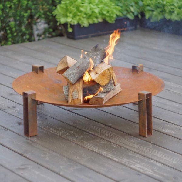 Maar Fire Pit - rusting steel