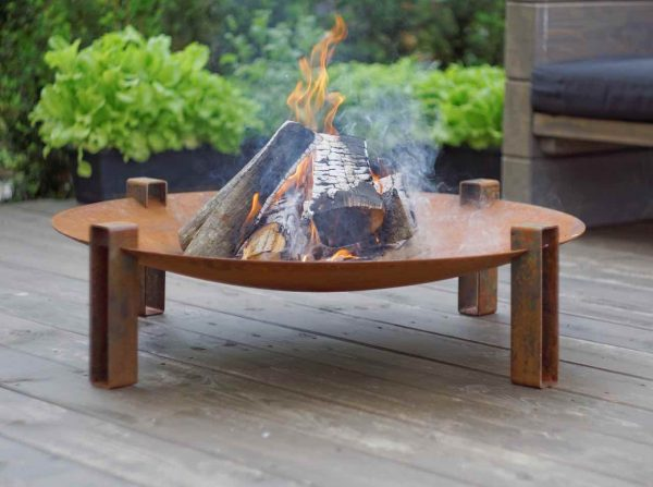 Maar - large size solid weathering steel fire pit