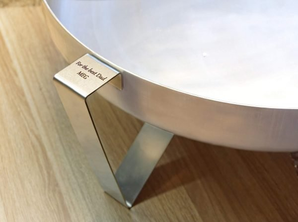 Personalised stainless steel fire pit Etna