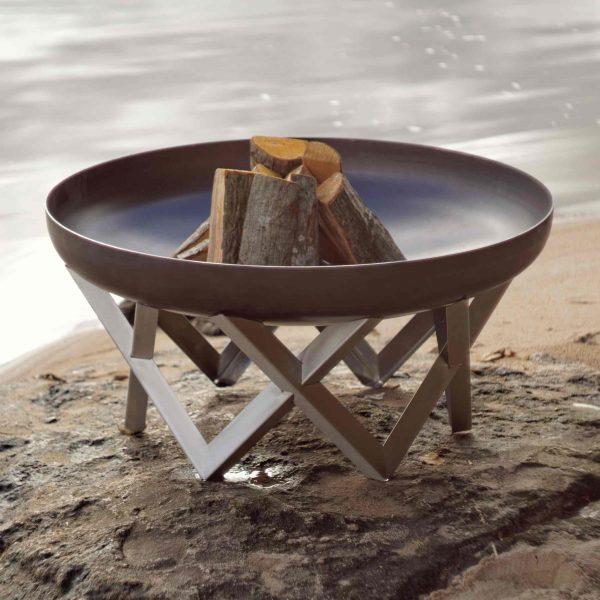 Rusting steel Awen Fire Pit - 79cm diameter